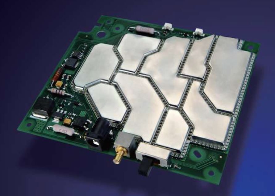 Sample Shield on Router PCB